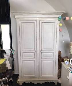 French Provincal White Wooden Wardrobe Annandale Leichhardt Area Preview