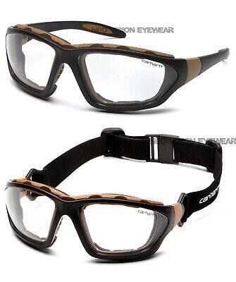 Carhartt Carthage Clear Anti Fog Foam Padded Hybrid Safety Glasses Goggles Z87