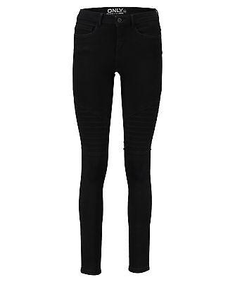 "Only Damen Jeans ""Royal Reg Skinny Zip"" Schwarz"