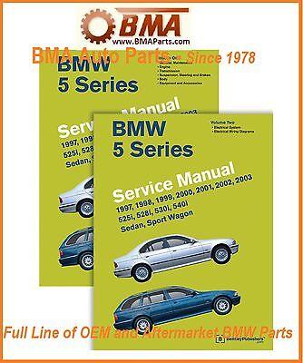 NEW E39 5 Series BMW Bentley Repair Manual 97-2003 - 2 VOLUME SET B503