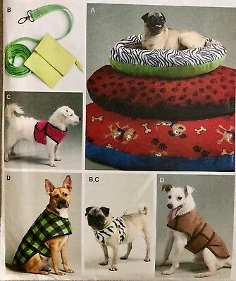 McCalls Crafts Sewing Pattern DOG BED PLUS ACCESSORIES Pets Animals Fun