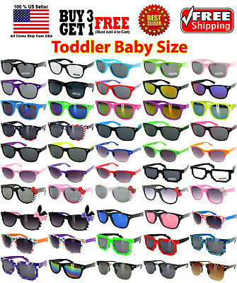 KIDS TODDLER BOYS GIRLS MULTI COLORS CLASSIC RETRO DESIGNER SUNGLASSES SHADES ()