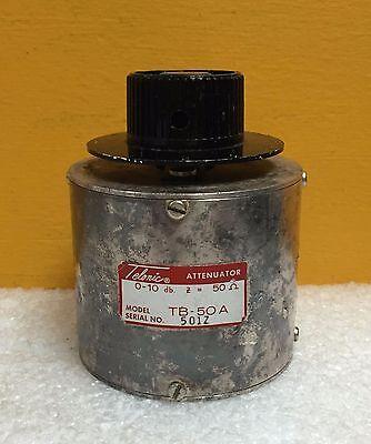 Telonic Tb-50a 0 To 10 Db 1 Db Steps 50 Ohm Bnc F-f Rotary Attenuator