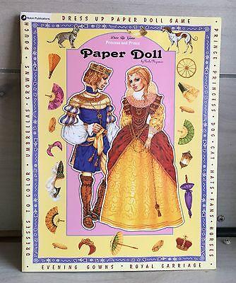 Paper Dolls Dress Up Game  Prince   Princess Coloring Book Paula Nizamas New