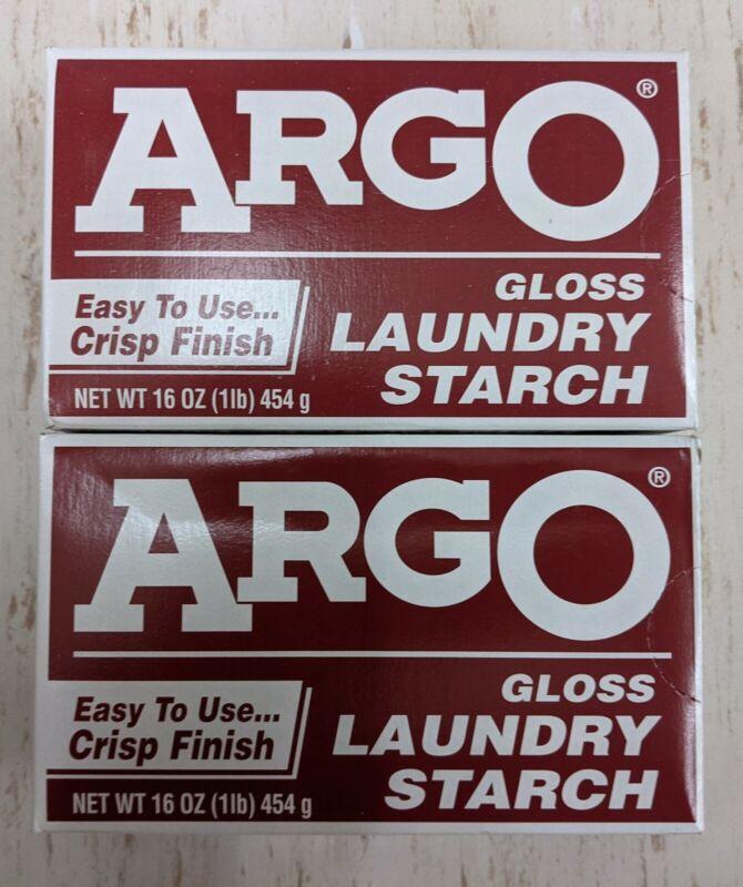 ARGO Gloss   Powder Laundry Starch   2 Boxes   16 oz each