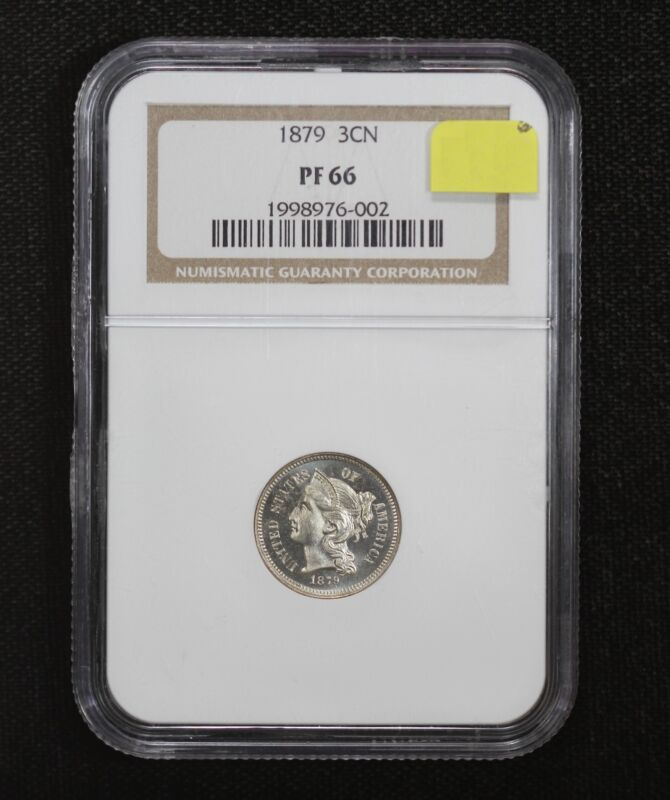 Proof 1879 3 Cent Nickel NGC PF66 08CO