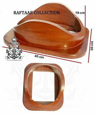 "Navy diving divers helmet wooden base 18"" Best Handmade Style Viintage gift"