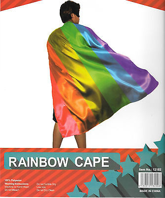 Adult Rainbow Cape Gay Lesbian Pride Banner Flag Mardi Gras Costume Party140cm](Mardi Gras Capes)