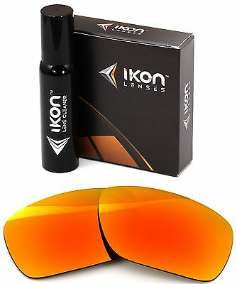 Polarized IKON Replacement Lenses For Dragon Calavera Sunglasses Fire (Dragon Sunglasses Calavera)