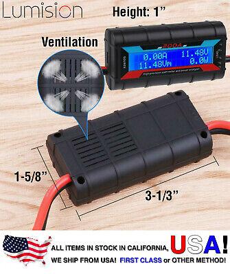 200a Amp Watt Meter High Precision Digital Lcd Display 60 Volt Solar Rc Battery