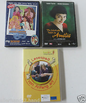 Kostümen Filme (3er DVD-Set # Fabelhafte Welt der Amelie FSK6 Film MADNESS Kostümparty LESESPASS)