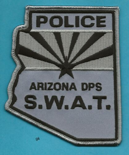 ARIZONA POLICE SWAT DPS STATE SHAPE SHOULDER PATCH  (Subdued - Gray)