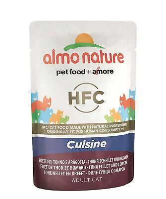 Almo Nature HFC Cuisine Wet Cat Food Pouch - Tuna Fillet & Lobster (Pack of 2...