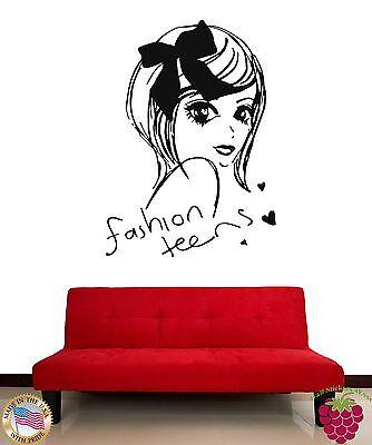 Wall Stickers Beautiful Girl Teen Fashion Teens Cool Decor F