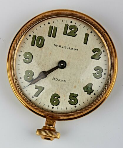 *Antique Waltham 8 Days Car Clock Mechanical Running 1926