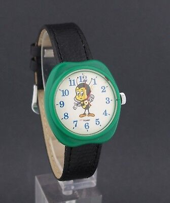 Vintage wind-up Team Bumble Bee Advertising Character Watch