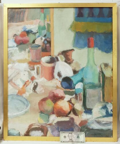 Large Vintage Oil On Canvas Impressionist Still Life Signed Spencer?
