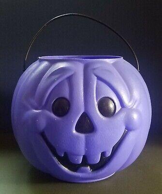 Vintage General Foam Blow Mold Purple Pumpkin Halloween Treat or Treat Pail