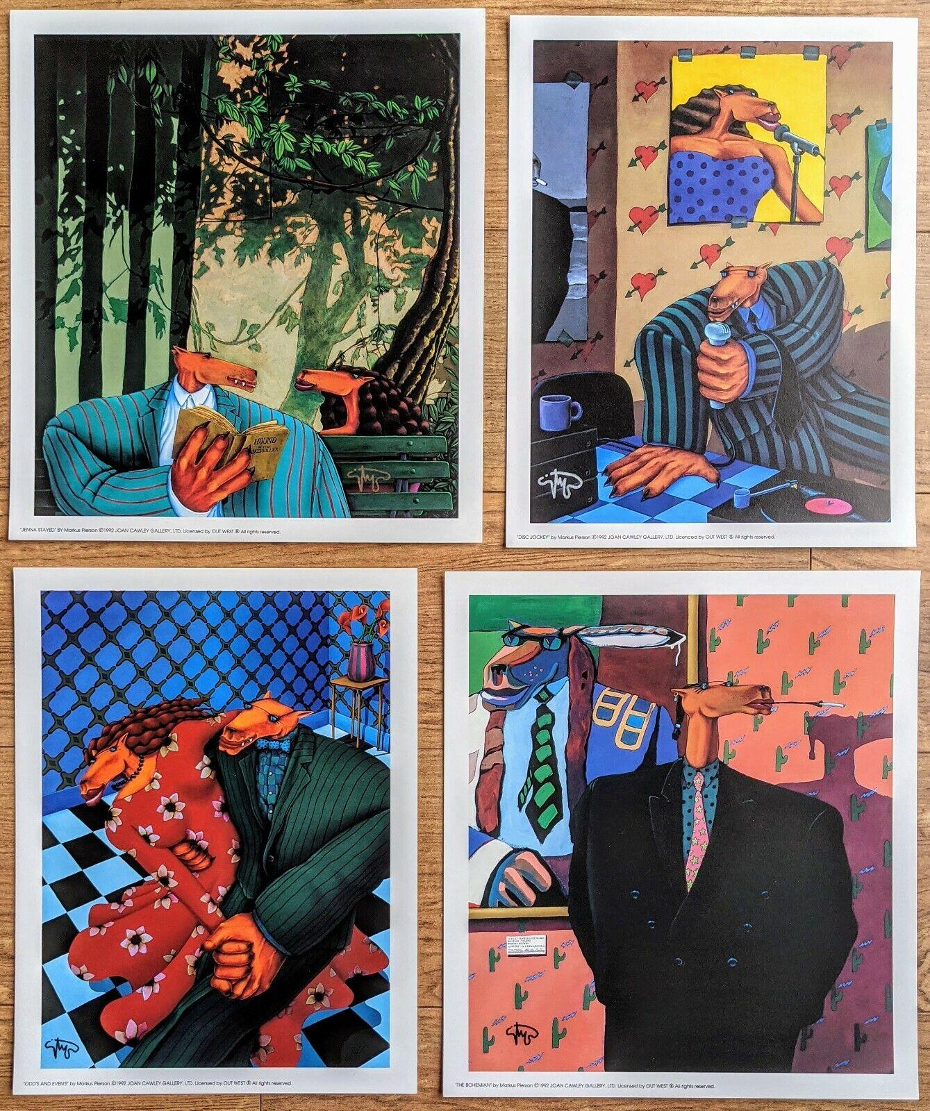 Markus Pierson — 4 Signed Mini-Prints — ...