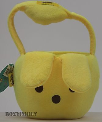 Flipeez Easter Halloween Yellow Peeps Plush Tote Basket NWT](Halloween Peeps)
