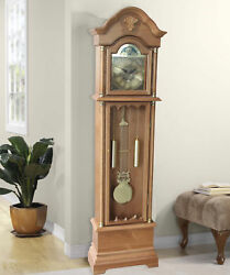 Alcott Hill 72 Wood Floor Standing Grandfather Clock