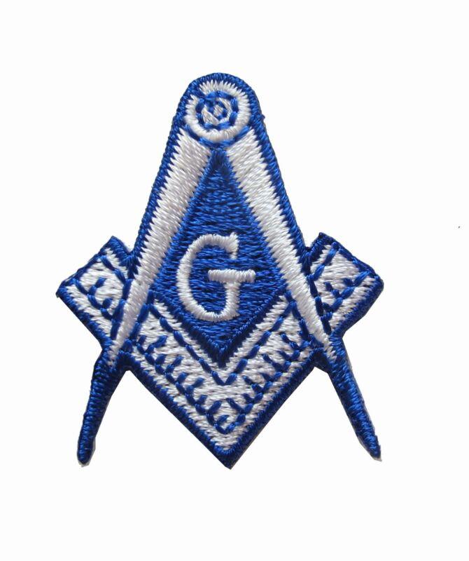 #5091 MASONIC BIKER PATCH EMBROIDERED IRON ON Mason Freemason SQUARE COMPASS