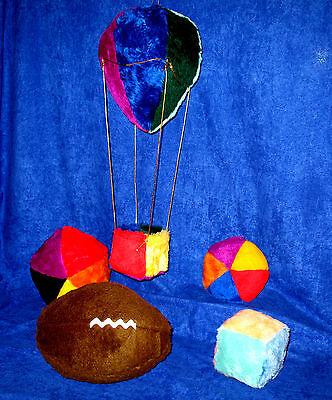 Easy Sewing Pattern Balloon Decor, Football 4 Balls