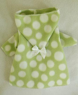 S Green And White Fleece Hooded Dog Bathrobe Clothes Small Pc Dog®