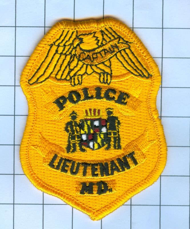 Police Patch Embroidered Mini-Patch  - Maryland - Police Lieutenant