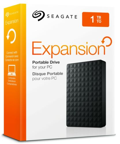 Seagate Expansion Portable 1TB, External 2.5 inch Hard Drive USB 3.0 HDD