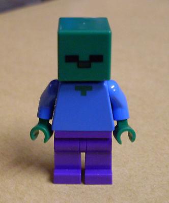 Minecraft Zombie Kopf (Lego Minecraft Figur - Zombie mit quadratischem Kopf grün Cube Neu)