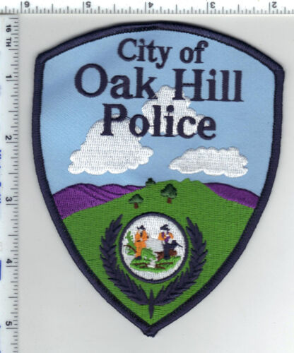 City of Oak Hill Police (West Virginia) 3rd Issue Blue Border Shoulder Patch
