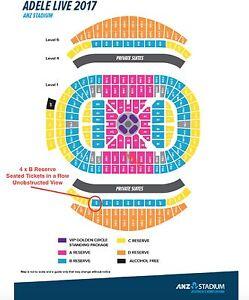Adele   B Reserve   Sydney   Sat 11th March 2017   2 Tickets Sydney City Inner Sydney Preview