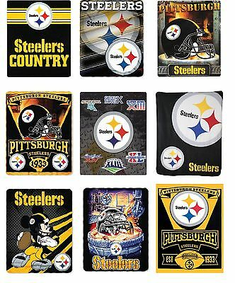 Nfl Pittsburgh Steelers Fleece Tie Blanket For Sale Online Ebay