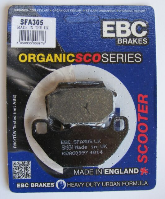 Kymco Agility 125 Carry (2011 to 2015) EBC FRONT Disc Brake Pads SFA305 (1 Set)