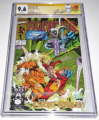 Wolverine #41 CGC SS Signature Autograph STAN LEE 2nd Print Cable Sabertooth POW