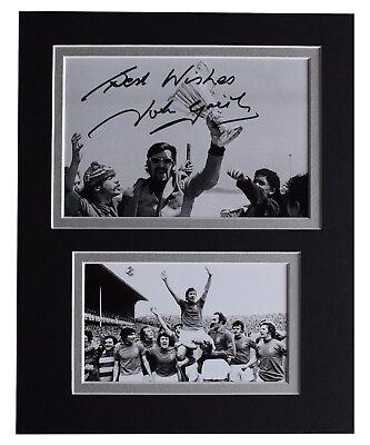 John Greig Signed Autograph 10x8 photo display Rangers Football AFTAL COA