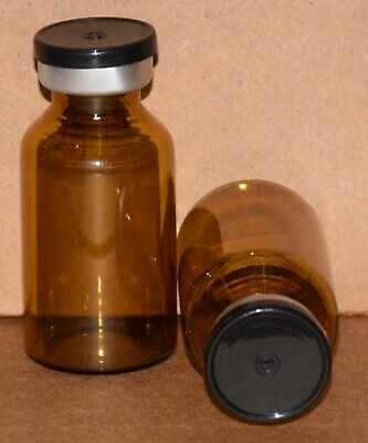 Usp 20 Ml Amber Sterile Vial With Any Color Plain Flip Cap Seal Qty. 5