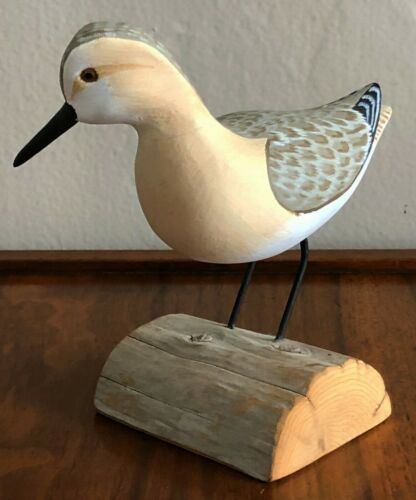 HARRY V. SHOURDS II HAND CARVED PAINTED SHORE BIRD SCULPTURE FIGURE DECOY 1993