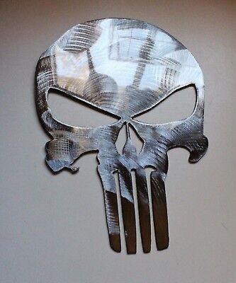 Punisher Skull   Polished Steel FINISH Metal Wall Art