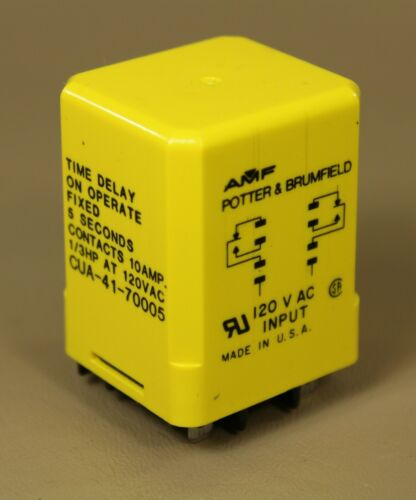 Potter & Brumfield CUA-41-70005 time delay relay, 5 seconds