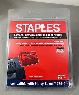 Staples Postage Meter Inkjet Cartridge Sipb-10 Pitney Bowes Compatible