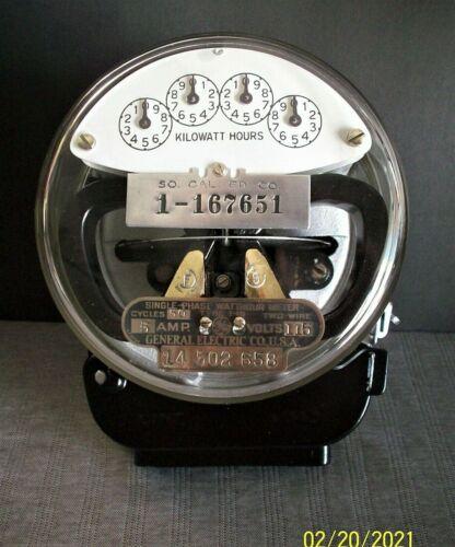 Vintage/Antique 1929 Westinghouse So. California Edison GE Meter, 5A, 115v