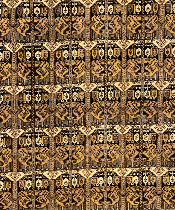 Terrific Turkmen - 1950s Afghan Tribal Rug - Silk And Wool Carpet - 6.10 X 9.10