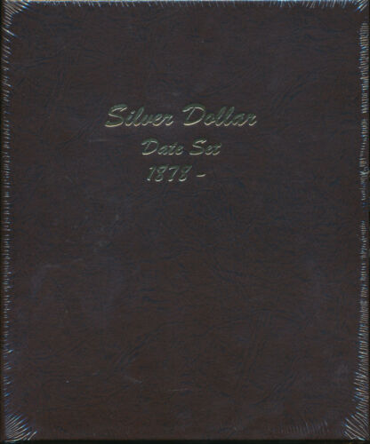 Dansco Album 7172 Silver Dollar Date Set 1878-Date Book