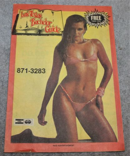 VINTAGE RISQUE LAS VEGAS BACHELOR GUIDE ADVERTISING 1980