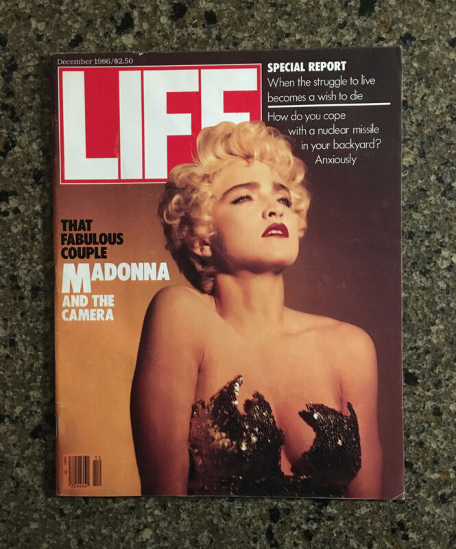 "December 1986 Sultry~Sexy ""Madonna and the Camera"" LIFE magazine"
