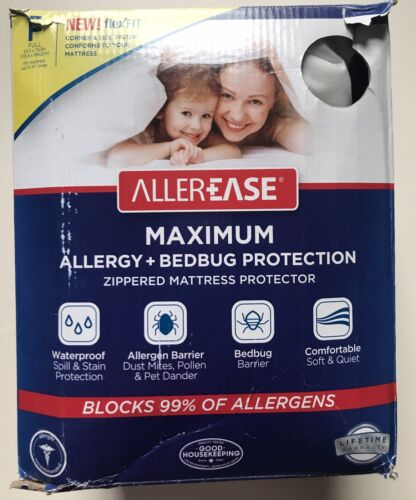AllerEase Maximum Allergy & Bed Bug Protection Zippered Matt