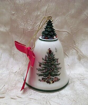 Spode Christmas Tree Ceramic Bell Ornament Not Dated with Year