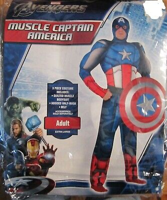 Avengers End Game Captain America Muscle Adult Costume Standard Size New 816
